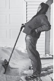 shoveling snow back pain chiropractor chippewa