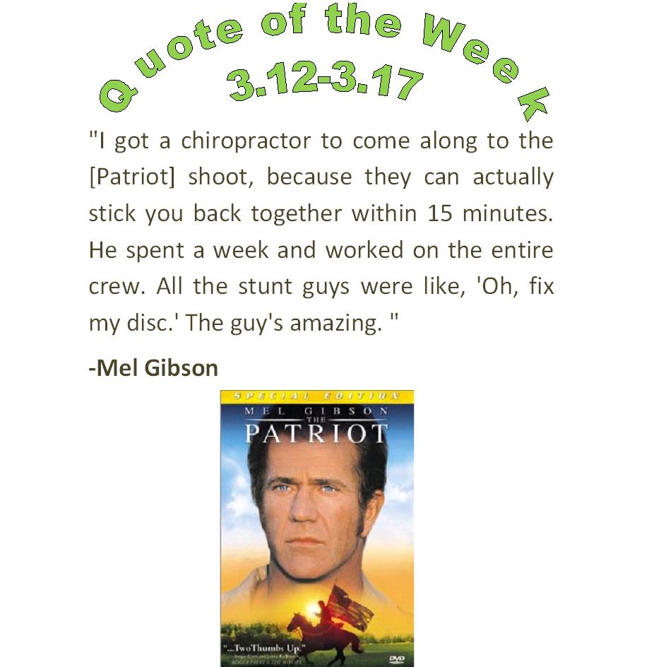 chippewa falls wi chiropractors quote of the week 3.12-3.17 2012