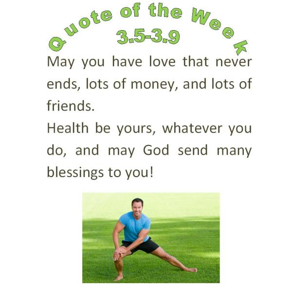 eau claire chiropractors quote of the week 3.5-3.9 2012