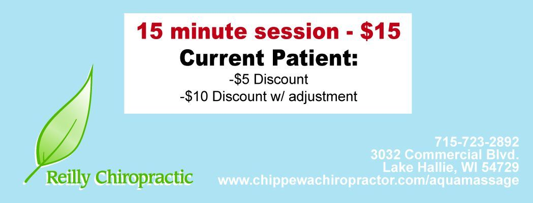 massage costs at reilly chiropractic chippewa falls, wi