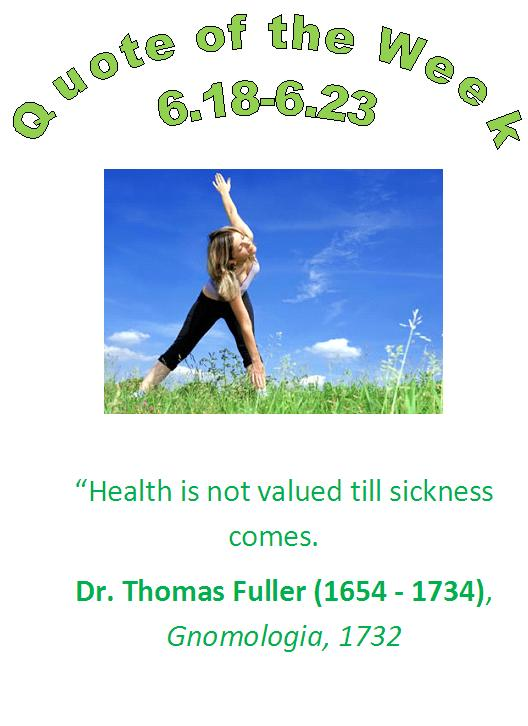 chippewa falls, wi chiropractor healthy quote of the week 6.18 - 6.23