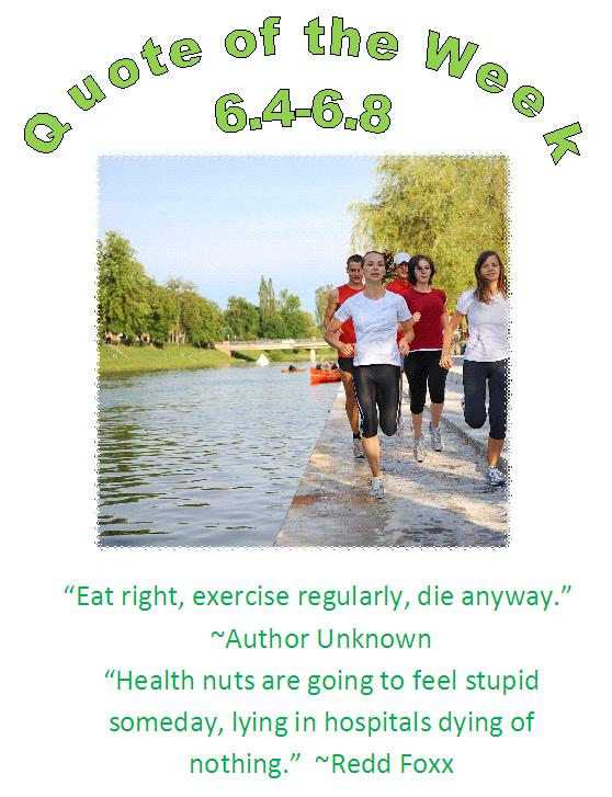 chippewa falls, wi chiropractor healthy quote of the week 6.4 - 6.8
