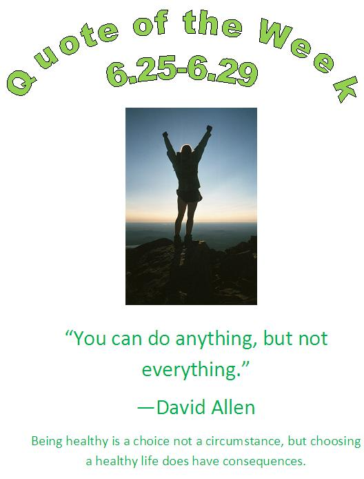 eau claire, wi chiropractor healthy quote of the week 6.25 - 6.29