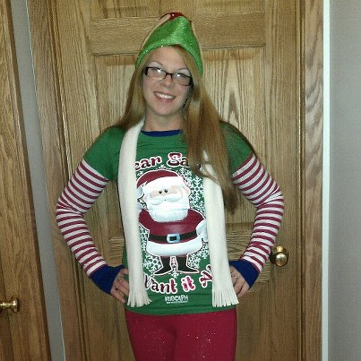 amanda chiropractic assistant at reilly chiropractic dressed as an elf for the bridge to wonderland parade 2012