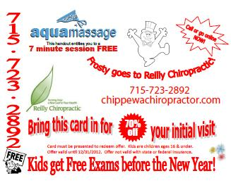 bridge to wonderland offer 2012 from reilly chiropractic